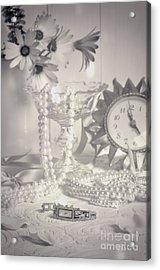 Womans Dressing Table Acrylic Print by Amanda Elwell