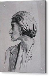 Woman's Profile Acrylic Print