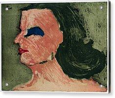 Woman's Profile Acrylic Print by Tim Southall