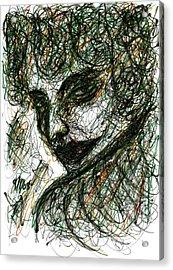 Woman's Smile Acrylic Print by Rachel Scott