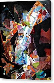 Womansong Acrylic Print by Rebecca Zdybel