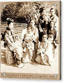 Women And Children Of A Japanese Family In Uyeno Park Acrylic Print