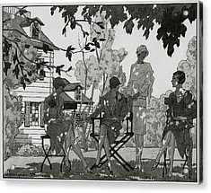 Women At The Woman's National Golf Club On Long Acrylic Print