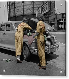 Women Auto Mechanics Acrylic Print by Andrew Fare
