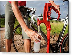 Women Cyclists Acrylic Print