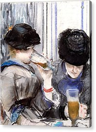 Women Drinking Beer, 1878 Acrylic Print by Edouard Manet