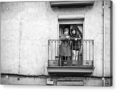 Women In Balcony Acrylic Print