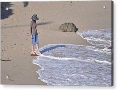 Women In Hat Acrylic Print by Pamela Schreckengost