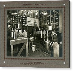 Women In Munitions Factory Acrylic Print by Science, Industry And Business Library/new York Public Library