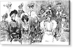 Women Jurors 1902 Acrylic Print by Padre Art
