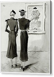 Women Looking At A Toreador Acrylic Print