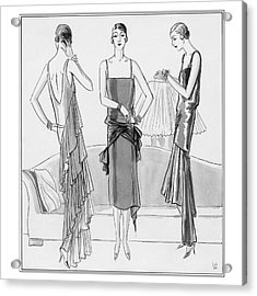 Women Model Evening Dresses Acrylic Print