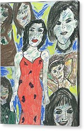 Women Of The 90's Collage Acrylic Print by Mark Flanagan