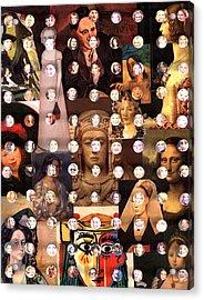 Women Of The Past Women Of The Present Acrylic Print by Irmari Nacht