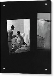 Women Relaxing In A Hot Room Acrylic Print