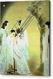 Women Viewing Stars Acrylic Print