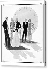 Women Wearing Chanel Acrylic Print