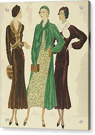 Women Wearing Velvet Acrylic Print