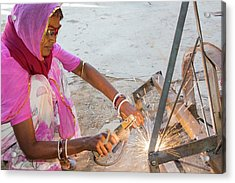 Women Welding Joints Acrylic Print by Ashley Cooper