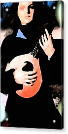 Women With Her Guitar Acrylic Print