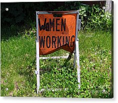 Acrylic Print featuring the photograph Women Working by Ed Weidman