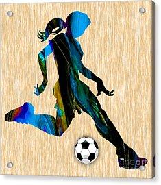 Womenn's Soccer Acrylic Print