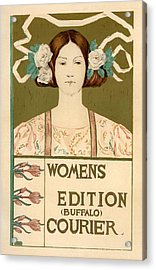Women's Edition Buffalo Courier Acrylic Print by Gianfranco Weiss