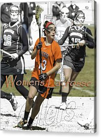 Womens Lacrosse 2 Acrylic Print by Tom Climes