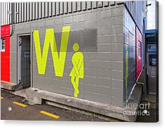Womens Public Toilet Wellington Nz Acrylic Print by Colin and Linda McKie