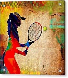 Womens Tennis Acrylic Print