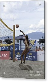 Women's Volleyball Game Acrylic Print