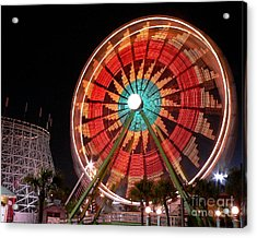 Wonder Wheel - Slow Shutter Acrylic Print