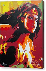 Wonder Woman - Sister Inspired Acrylic Print by Kelly Hartman
