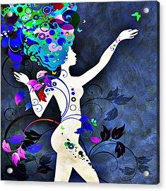 Wonderful Night Acrylic Print by Angelina Vick