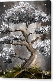 Wonderfully Gray - Shades Of Gray Art Acrylic Print by Lourry Legarde