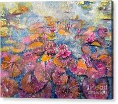 Wonderland Waterlilies Acrylic Print
