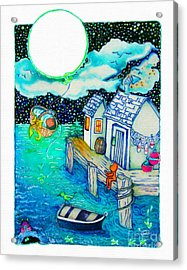Woobies Character Baby Art Colorful Whimsical Design By Romi Neilson Acrylic Print