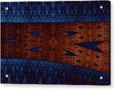 Wood And Blue Acrylic Print by Mark Eggleston