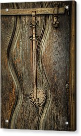 Wood And Metal Mission Door Acrylic Print
