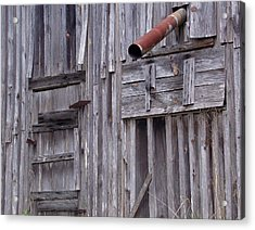 Wood And Rust Acrylic Print by John Glass