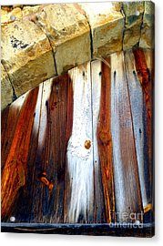 Wood And Stone Acrylic Print by Lauren Leigh Hunter Fine Art Photography
