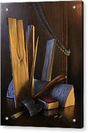 Wood Box Acrylic Print by Timothy Jones