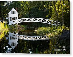 Wood Bridge Somesville Acrylic Print by Jane Rix