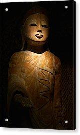 Wood Buddha Statue Acrylic Print