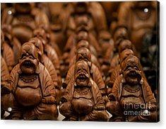Wood Buddha Statues Acrylic Print