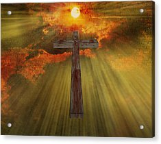 Wood Cross  Acrylic Print by Bruce Rolff