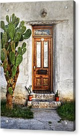 Acrylic Print featuring the photograph Wood Door In Tuscon by Ken Smith