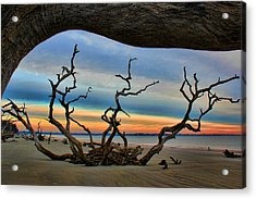 Wood Frame At Roots Beach Acrylic Print by Leslie Kirk