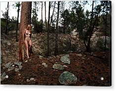 Wood Nymph Acrylic Print by Joe Kozlowski