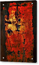 Acrylic Print featuring the painting Wood On Fire 3 Painting Original Sold by Renee Anderson